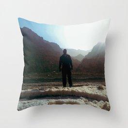 Lone Man Throw Pillow