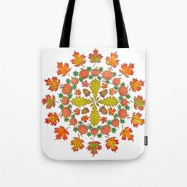 Autumn Mandala Tote Bag