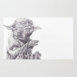 Yoda sketch Rug