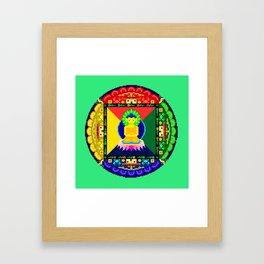 Sand Mandala I Framed Art Print