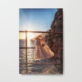 Delicate Sunset in Portovenere Metal Print