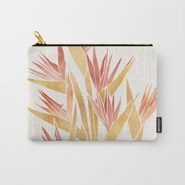 Deco Flowers ~ Metallic Birds of Paradise Carry-All Pouch