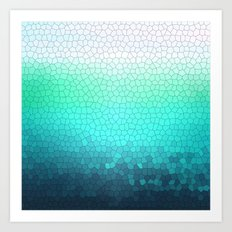 green sparkle Art Print