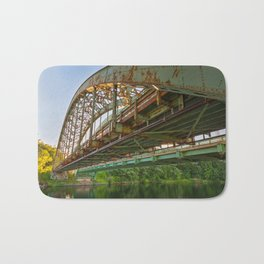 Rusted Sunset Bridge Bath Mat
