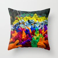 yolo Throw Pillows featuring YOLO by Chee Sim
