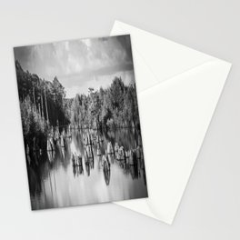 Dead Lakes Florida Black and White Stationery Cards