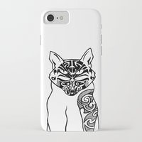 maori iPhone & iPod Cases featuring Maori Kitty by Sofy Rahman