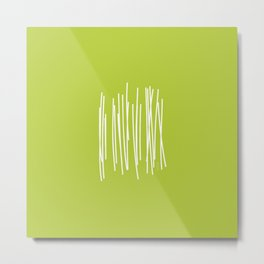 Wood - Minimal FS - by Friztin Metal Print