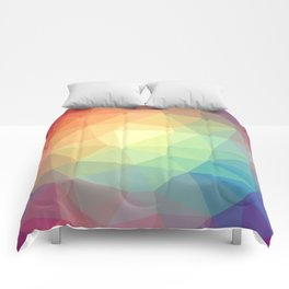 LOWPOLY RAINBOW Comforters