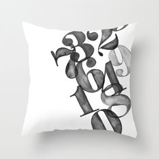 watercolornumbers Throw Pillow