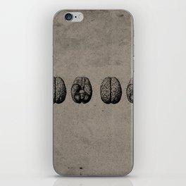 Row o' Brains - Engraving - Vintage - Old Black, White & Brown iPhone Skin