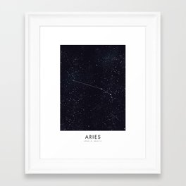 New Zodiacs Calendar: Aries Framed Art Print
