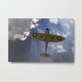 Aces High - Spitfire Vertical Climb Metal Print