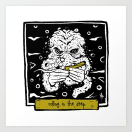 Cthulhu rolls Art Print