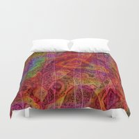 bands Duvet Covers featuring Bands II by RingWaveArt