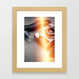 Vintage Camera and Film II Framed Art Print