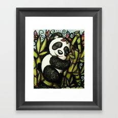 Panda Hugs Framed Art Print