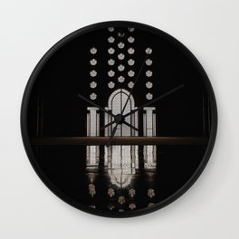 Islamic Architecture Inside Mausoleum Window Geometric Pattern Silhouette Mysterious Wall Clock