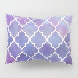 Purples & Pinks Watercolor Moroccan Pattern Pillow Sham