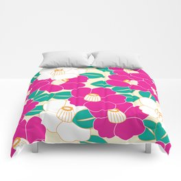 Shades of Tsubaki - Pink & White Comforters