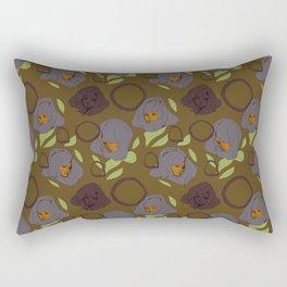 Ladies Brown Rectangular Pillow