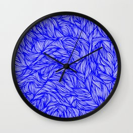 Surreal Cobalt Wall Clock