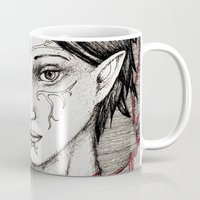 dragon ball Mugs featuring Merrill: ball of twine  by Anca Chelaru