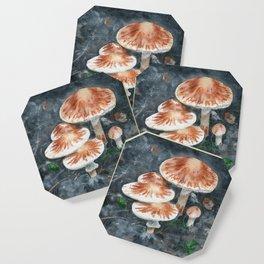 Family of mushrooms by Teresa Thompson Coaster