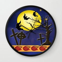 Spooky Graveyard Wall Clock