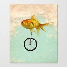 unicycle gold fish -2 Canvas Print