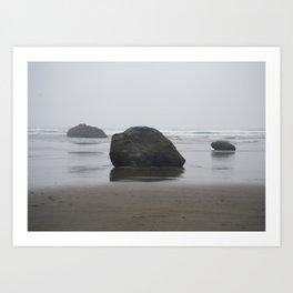 Hug Point Rock Formations Art Print