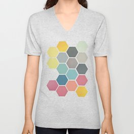 Honeycomb II Unisex V-Neck