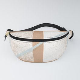 boho arch with monotone minimal constelation space Fanny Pack