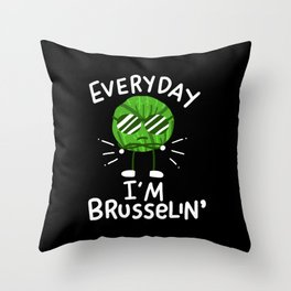 Vegan Brussel Sprouts Throw Pillow