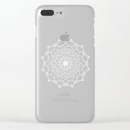 WHITE MANDALA Clear iPhone Case