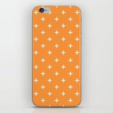 Plus orange iPhone Skin