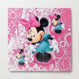 Minnie Mouse Cartoon Metal Print