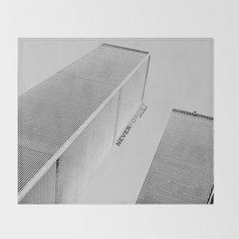 September 11 Tribute - Never Forget - World Trade Center Throw Blanket