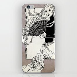 Vintage lady#3 iPhone Skin