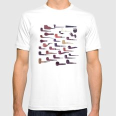 A pipe for every man White MEDIUM Mens Fitted Tee