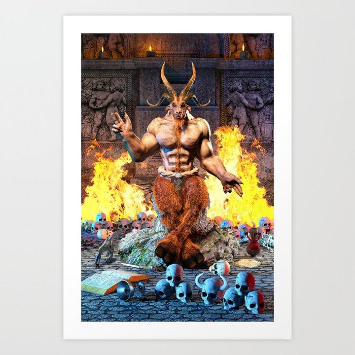 Sabbatic Goat Satanic Baphomet Art Print by tropicaltoad