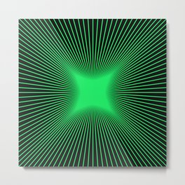 The Emerald Illusion Metal Print