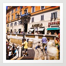 italy - rome - vacanze romane_39 Art Print