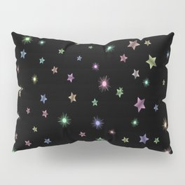 Colored Sparkling Stars Pillow Sham