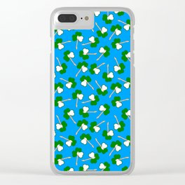 Sham-Rock on blue Clear iPhone Case