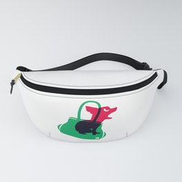 Angry animals: chihuahua - little green bag Fanny Pack
