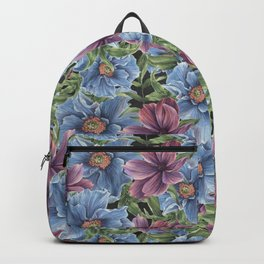 Hibiscus Flowers on Chalkboard Backpack