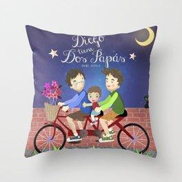 Dos papás Throw Pillow
