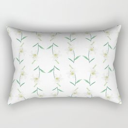 white lily watercolor Rectangular Pillow