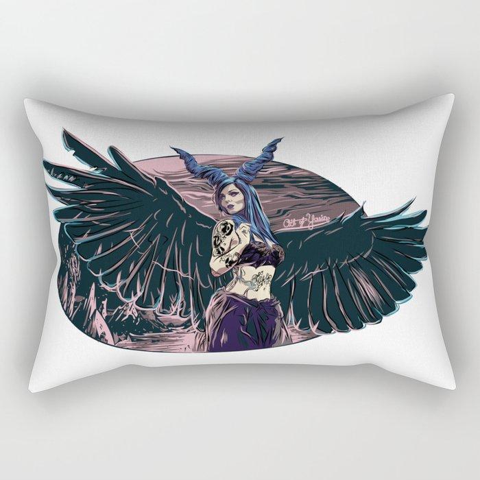 Riae Suicide Vector Illustration Rectangular Pillow
